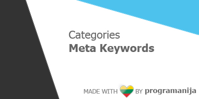 Categories Meta Keywords
