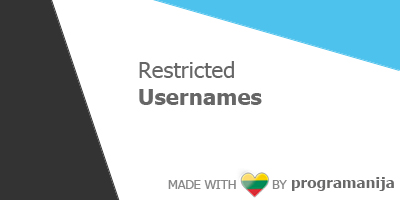 Restricted Usernames By Admin