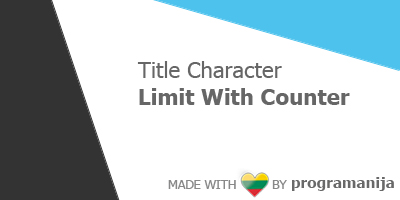 Title Characters Limits With Counter