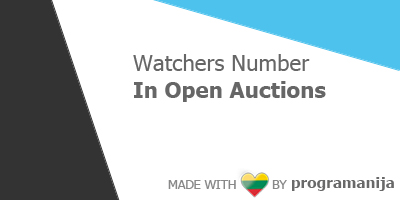 Watchers Number in Open Auctions